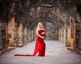 Robe de grossesse longue tendance 2017 - Modele 14