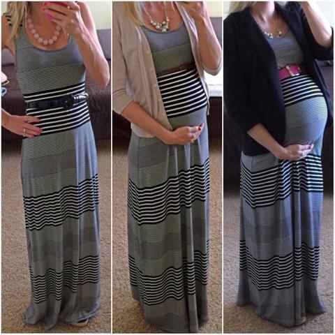Robe de grossesse longue tendance 2017 - Modele 4