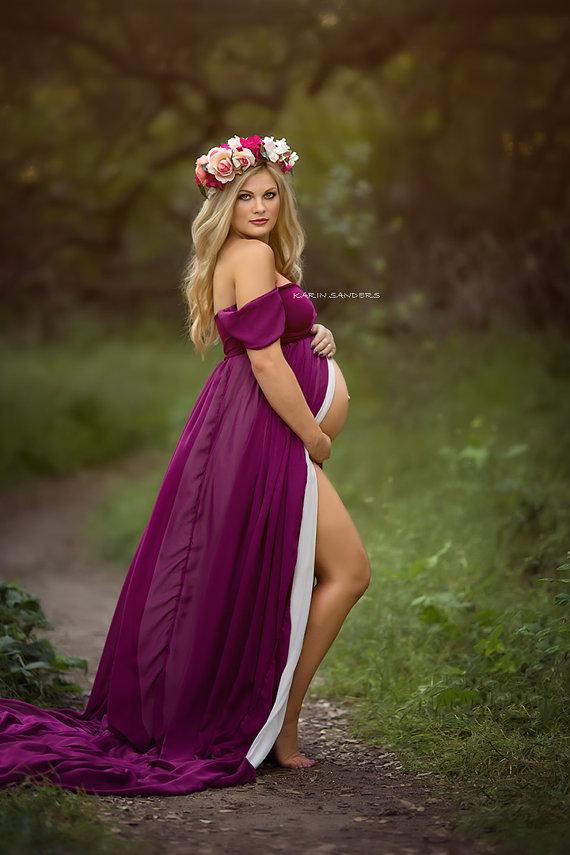 Robe de grossesse longue tendance 2017 - Modele 7