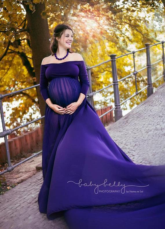Robe de grossesse longue tendance 2017 - Modele 9