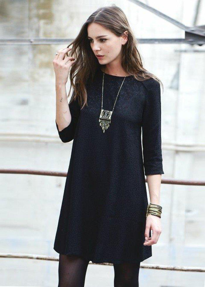 Robe de soirée noire courte Tendance 2017 - Modèle 3 Chouette robe noire quotidienne chic bien accessoirisée