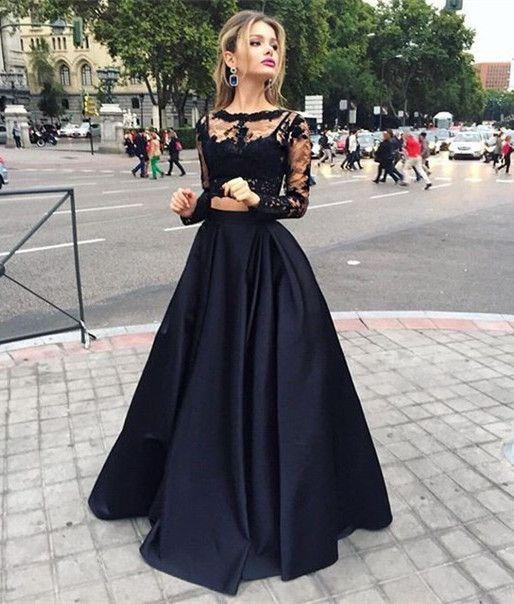 Robe de soirée noire longue tendance 2017 - Modèle 12 Optez pour une robe longue. Elle vous donnera un look glamour qui colle parfaitement avec le thème de la soirée.