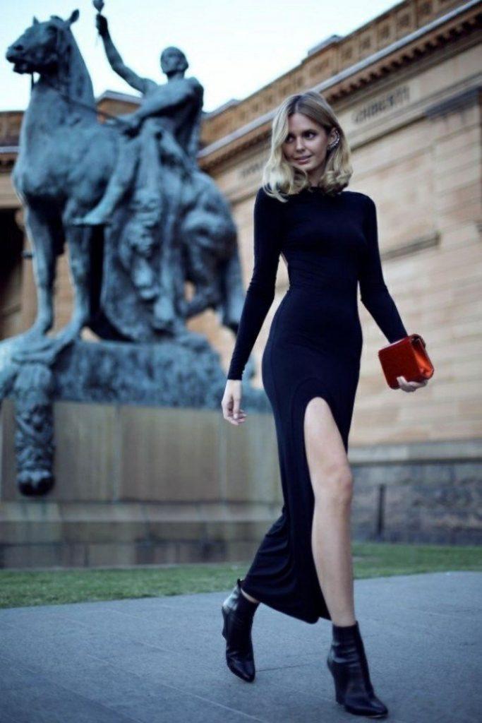 Robe de soirée noires longues 2017 - Belle robe longue en noir très chic