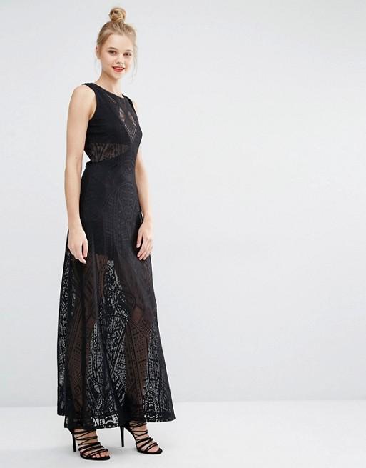 Robe de soirée noires longues 2017 - Modèle BCBG Max Azria Sleeveless Maxi