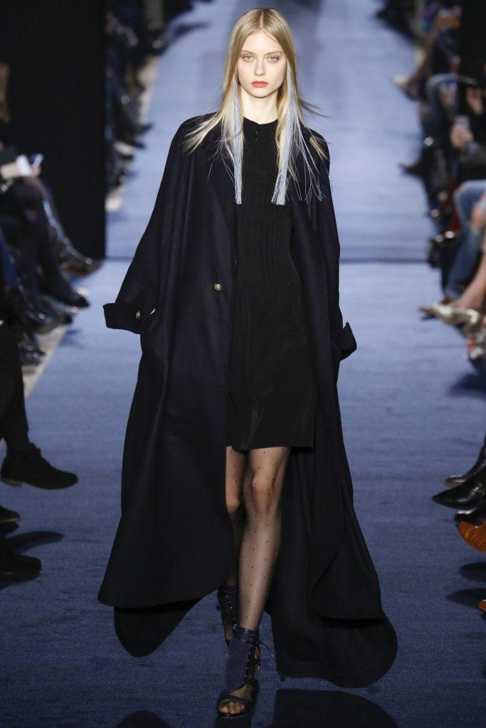 Robe de soirée noires longues Hiver 2017 - Modèle Alexis Mabille