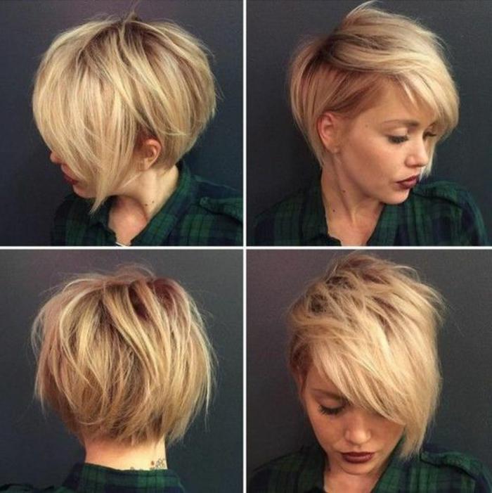 Coupe cheveux courts femme destructuree