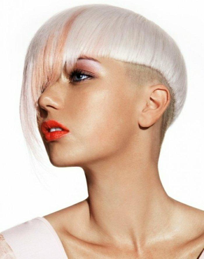 Modele coiffure courte asymetrique femme