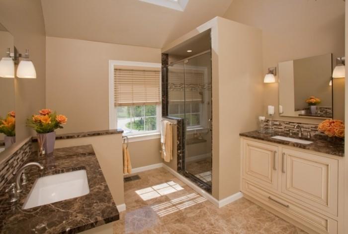 idee-couleur-salle-de-bain-beige-deux-espaces-toilette-séparés-cabine-de-douche