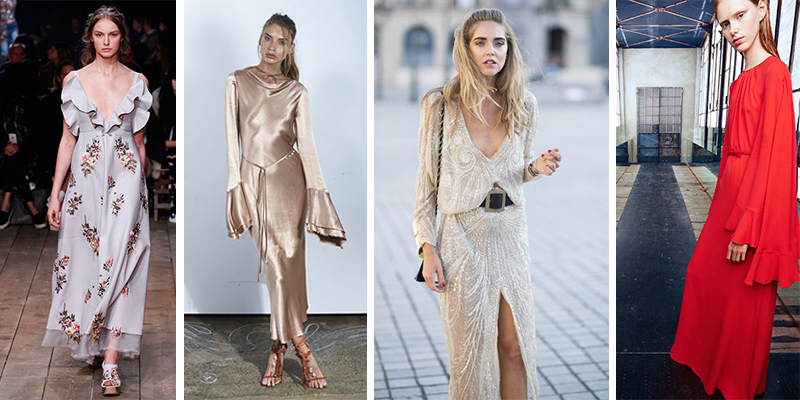 Fashion Radar : 58 Robes de soirée longues tendance 2017 repérés sur les réseaux sociaux