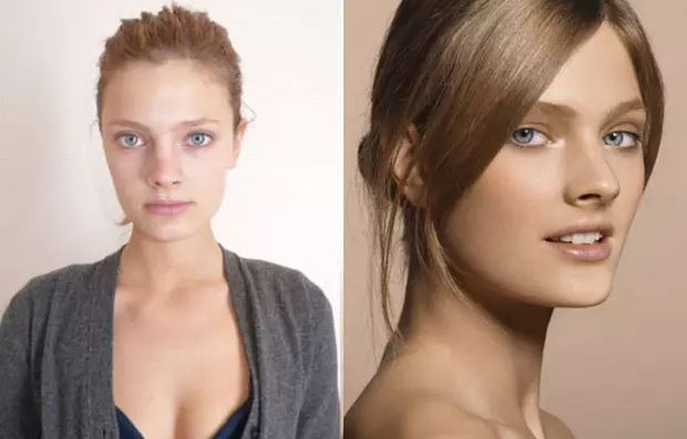 Constance Jablonski sans makeup ni photoshop