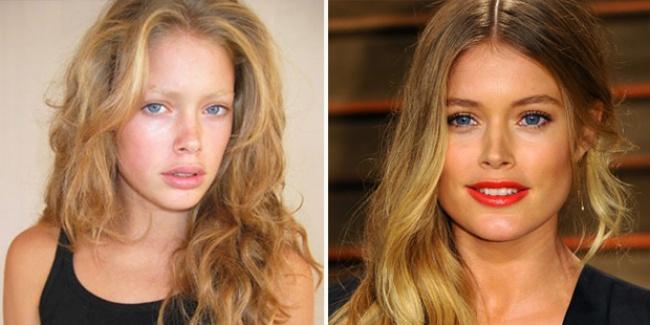 Doutzen Kroes sans maquillage - Née le 23 janvier 1985 aux Pays-Bas, Doutzen Kroes défile rapidement pour de nombreuses grandes maisons, parmi lesquelles on retrouve Christian Dior ou Louis Vuitton. En 2008, alors âgée de 23 ans, Doutzen Kroes devient l'un des Anges de la marque de lingerie Victoria's Secret, rejoignant ainsi d'autres mannequins célèbres telles que Heidi Klum ou Miranda Kerr.
