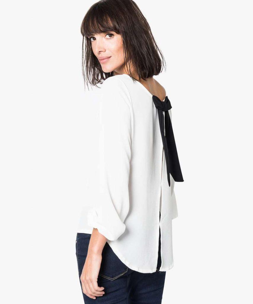 Gémo Tunisie - Vous allez adorer cette blouse pour femme avec son noeud au dos qui apporte la touche de fantaisie