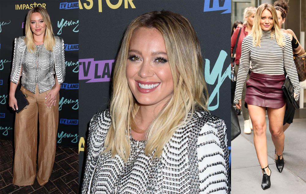 Le fashion faux-pas de la semaine, Hilary Duff dans une jupe trop courte !