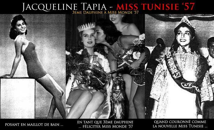 Jacqueline Tapia - Miss Tunisie 1957