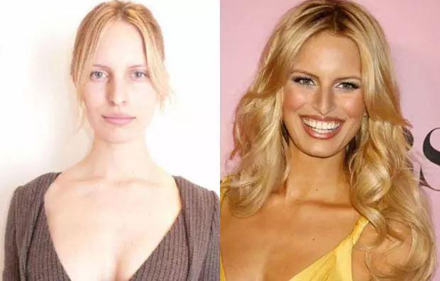 Une autre photo de Karolina Kurkova sans maquillage prise lors du casting Louis Vuitton hiver 2010