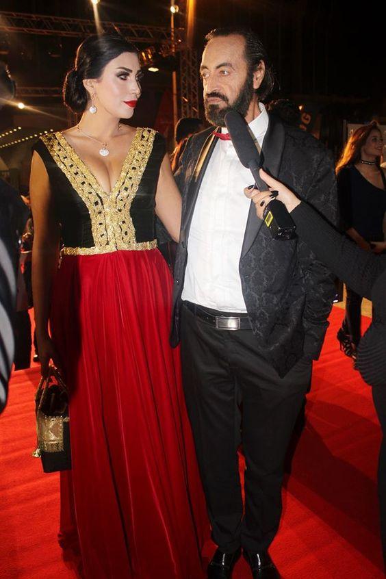 L'acteur Hichem Rostom et sa femme - JCC 2016