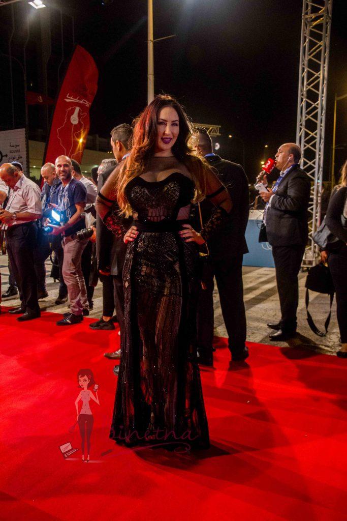 L'actrice Mariem ben hassine Habillée By Dora Dhahri- JCC 2016 - Robe par dora Dhahri