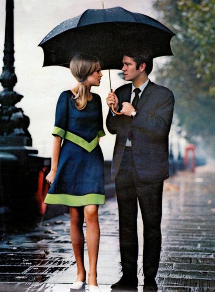 Un rendez-vous sous la pluie, Londres, 1963.