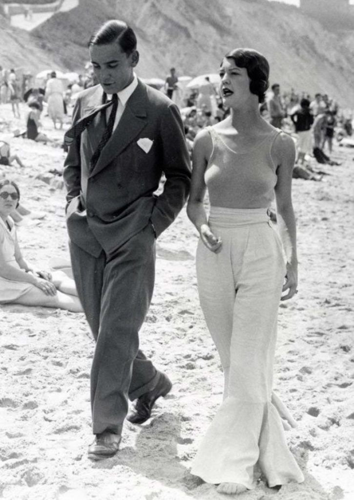 Vintage Setyle - Coco Chanel à la plage
