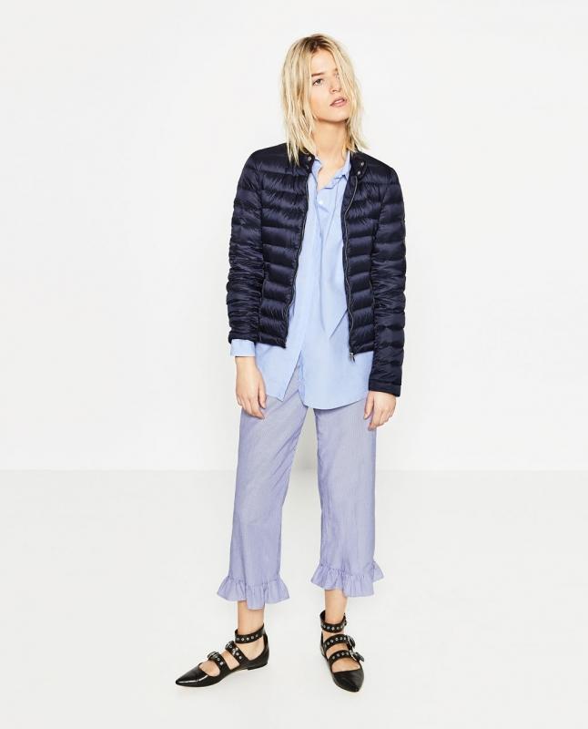 La doudoune courte sur le look néo-pyjama à EVITER