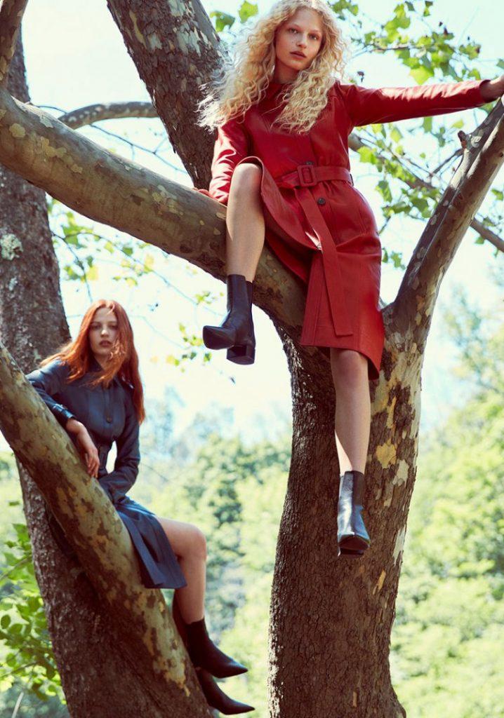 Les manteaux et vestes Zara 2017 - L'esprit vinyle s'impose en noir laqué ou rouge intense