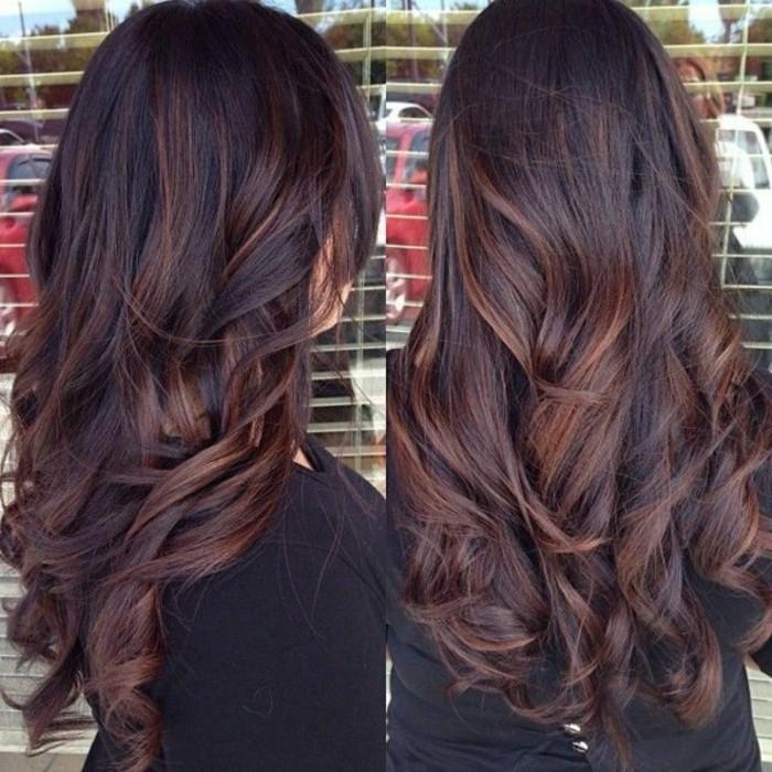 Differentes couleurs de cheveux marron
