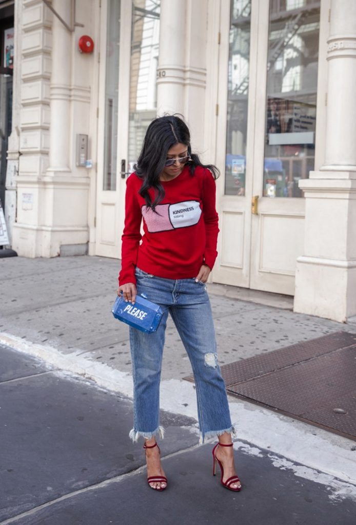 Comment porter le jean cropped tendance 2017 - look (2)