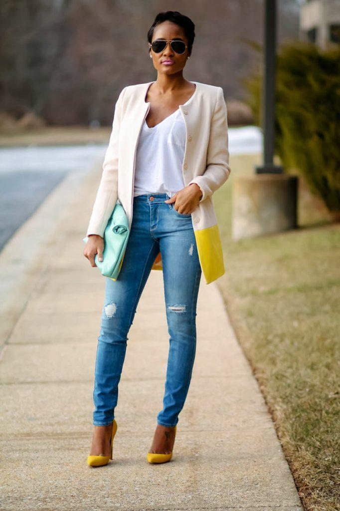 tendance mode 35 nouvelles fa ons de porter des jeans cet hiver rep r s chez les blogueuses. Black Bedroom Furniture Sets. Home Design Ideas
