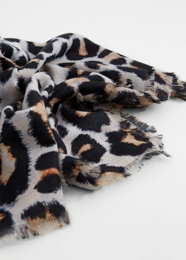 Foulard imprimé léopard - Mango Tunisie