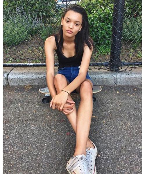 Lameka Fox Nationalité: Américaine Taille: 1m76 Agence: IMG Crédit photo: Instagram @lamekafox