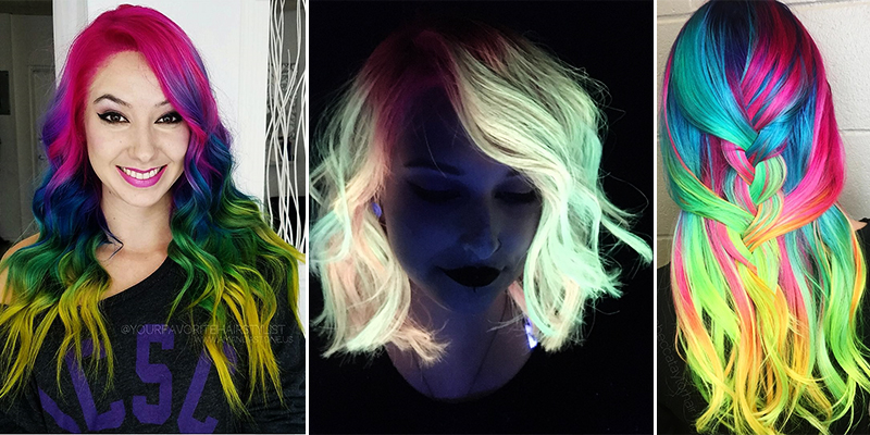 La tendance : les cheveux « glow in the dark »