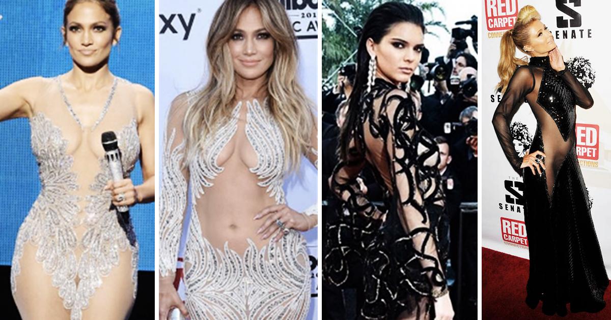 Tendance Mode: Les robes de soirée transparentes des stars