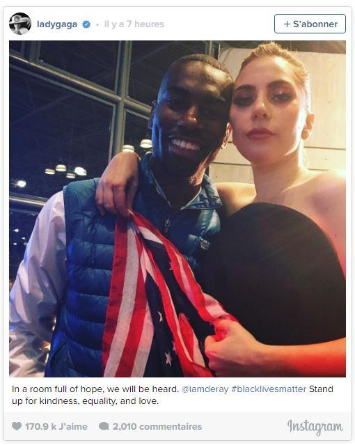 Réaction de Lady Gaga sur les élections américaines