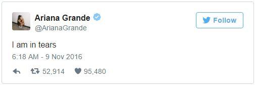 Reaction sur les elections - Ariana Grande
