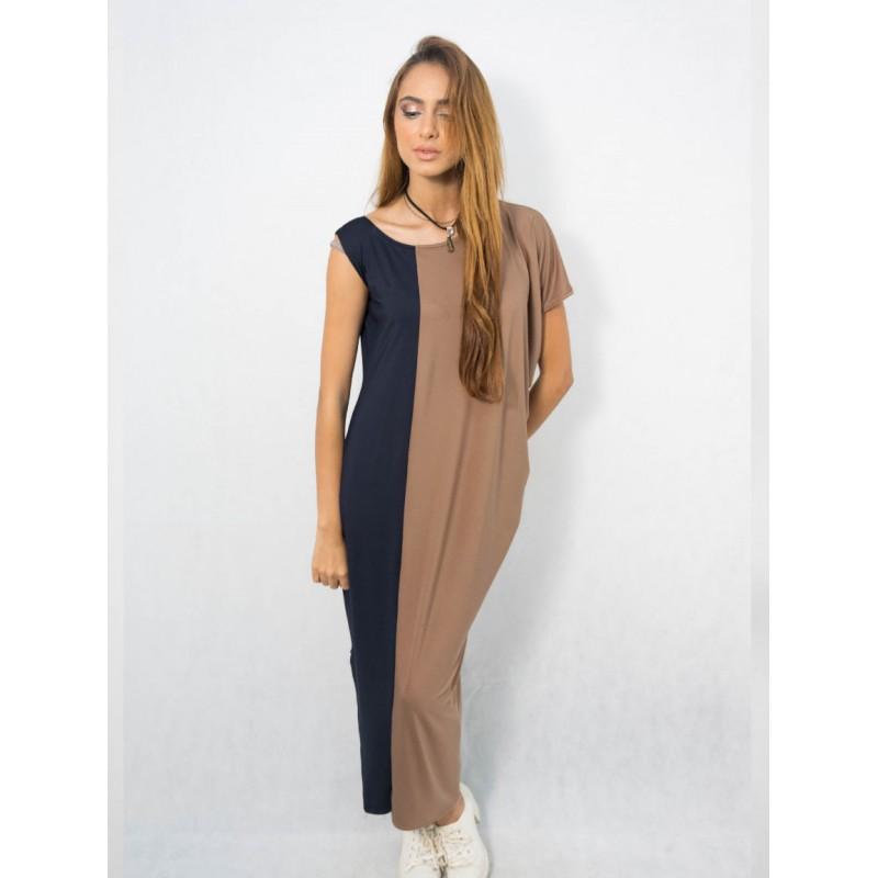 La robe longue est, elle aussi, un grand classique. A force de s'imposer dans les tendances mode, elle est devenue complétement indispensable. en bi-couleurs, elle se porte à plat ou avec des chaussures compensées.
