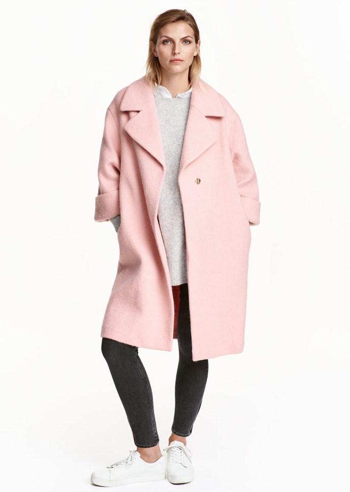 Manteau femme hiver rose pale