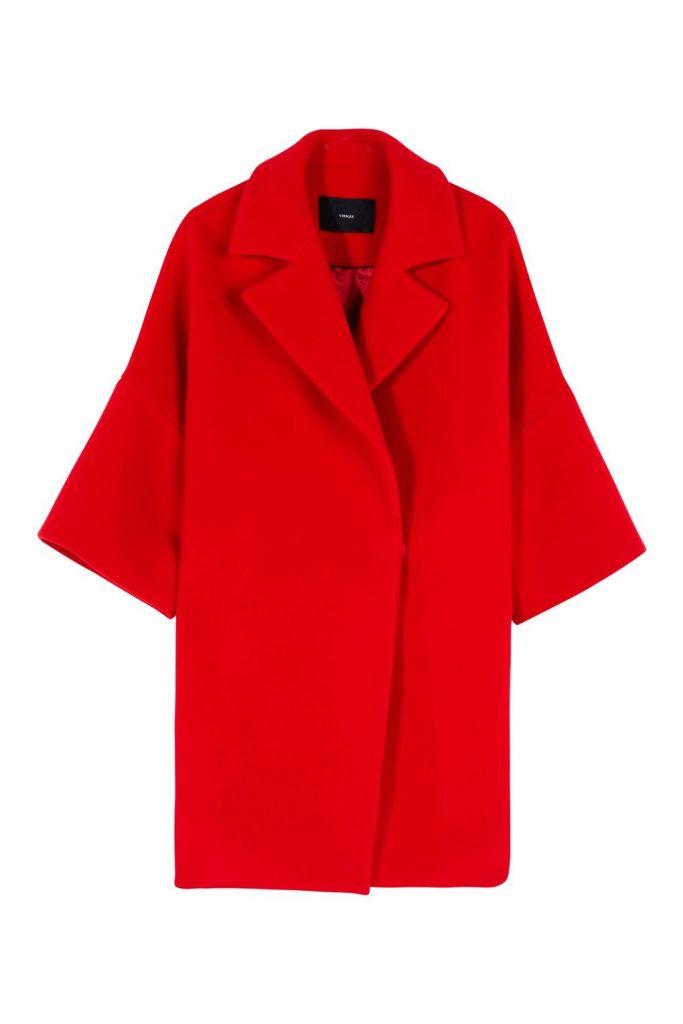 Manteau long rouge a la mode chez River Island