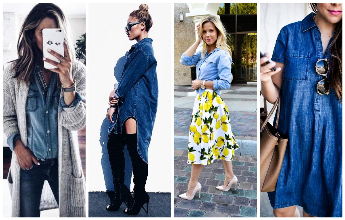 ebc24397db951 27 façons stylées de porter la chemise en jean tendance