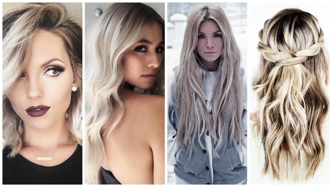 blond cendr tendance 2017 couleur de cheveux pour les femmes romantiques - Coloration Cheveux Gris Cendr