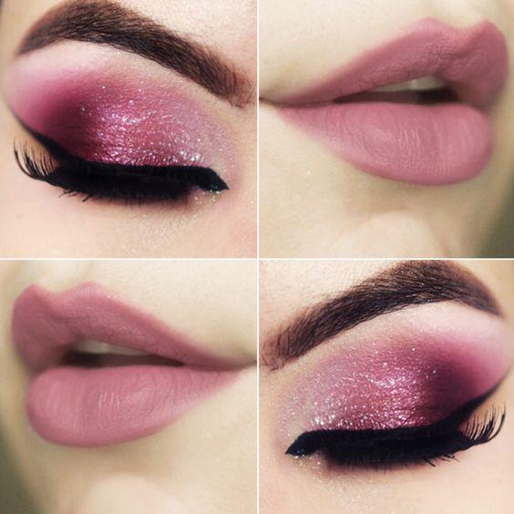 Voilà un tutoriel facile qui vous révélera les secrets du maquillage Saint-Valentin impeccable. Pensez de manière romantique et osez le rose et ses nuances pour les lèvres, les joues et les paupières.