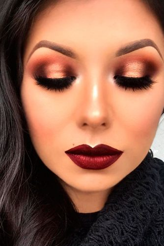 Maquillage Saint,Valentin facile et audacieux