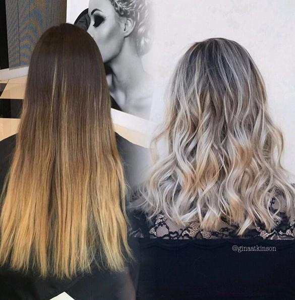 balayage en blond cendré tendance 2017