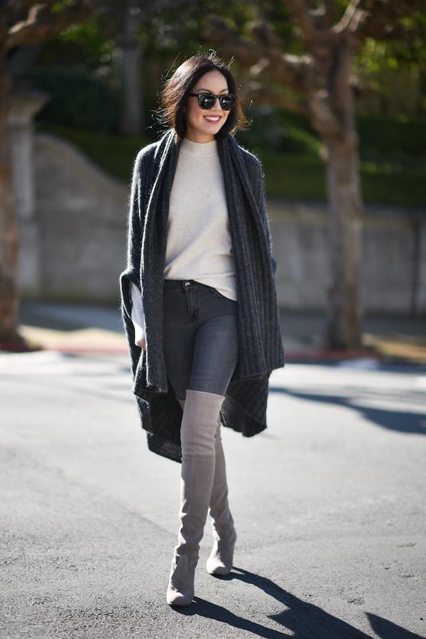 En jean, en élasthanne, bleu denim, gris, noir... Le slim est le meilleur allié des modeuses qui osent la cuissarde, à condition qu'il convienne à votre morphologie.