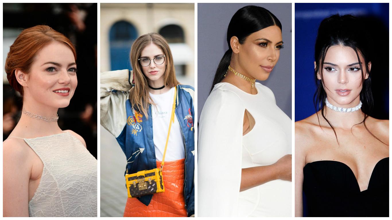 Tendance mode : Le retour du collier choker tendance 2017 pour femme