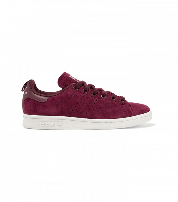 ADIDAS ORIGINALS - Stan Smith leather-trimmed suede sneakers