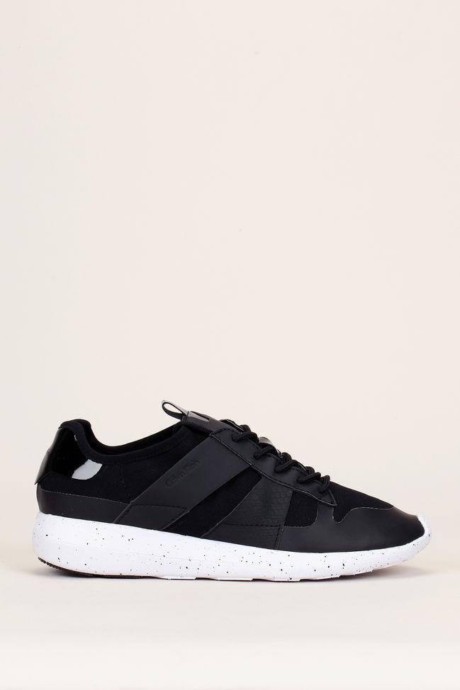 Calvin Klein - Sneakers noires imprimées reptile Farrah