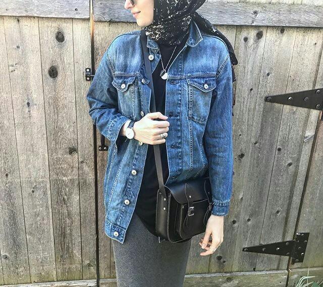 how to wear a denim gilet