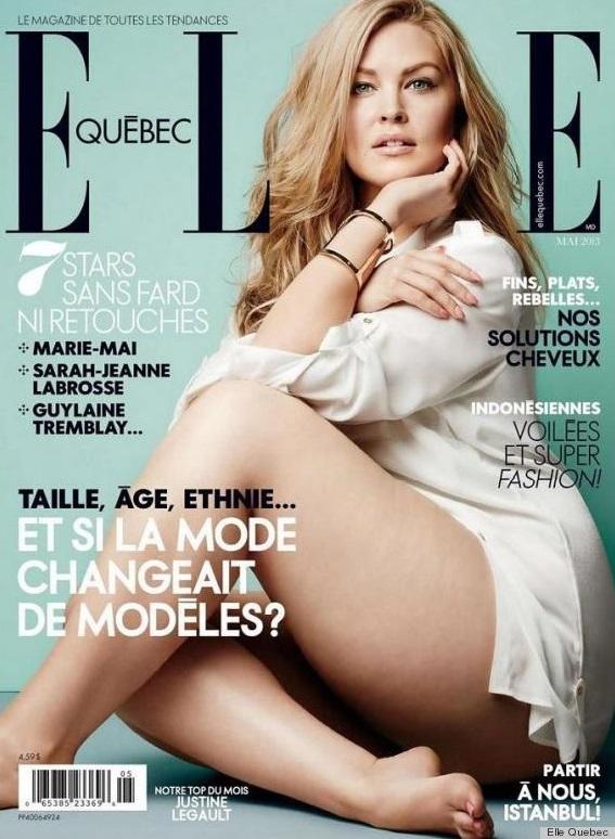 ELLE Québec : Justine Legault en titrant « Et si la mode changeait de modèles ? » pour son numéro de mai (2013). Ces tops d'un nouveau genre sont l'avenir de demain !
