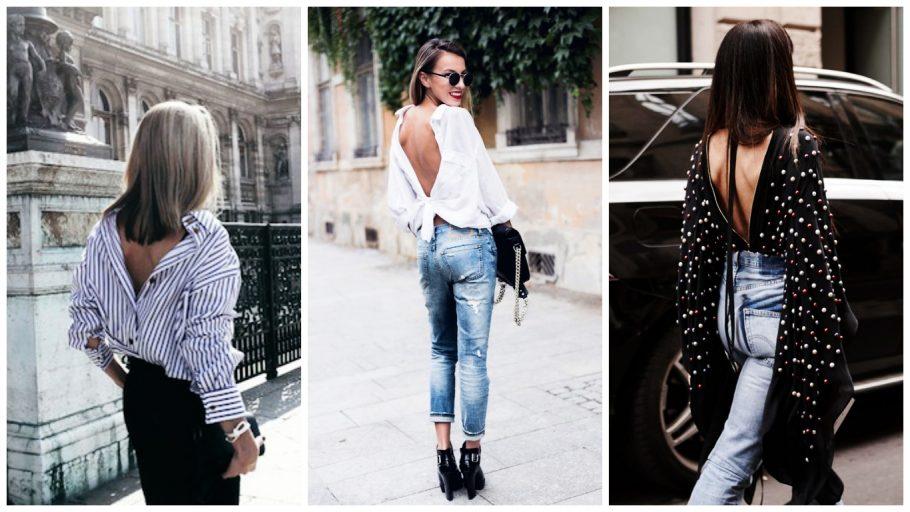 Les chemises à l'envers et la tendance mode dos nu: Accrochez vos ceintures, vous n'allez pas deviner la tendance mode en vogue à adopter cet été, c'est le dos se fait décolleté en portant tout à l'envers.