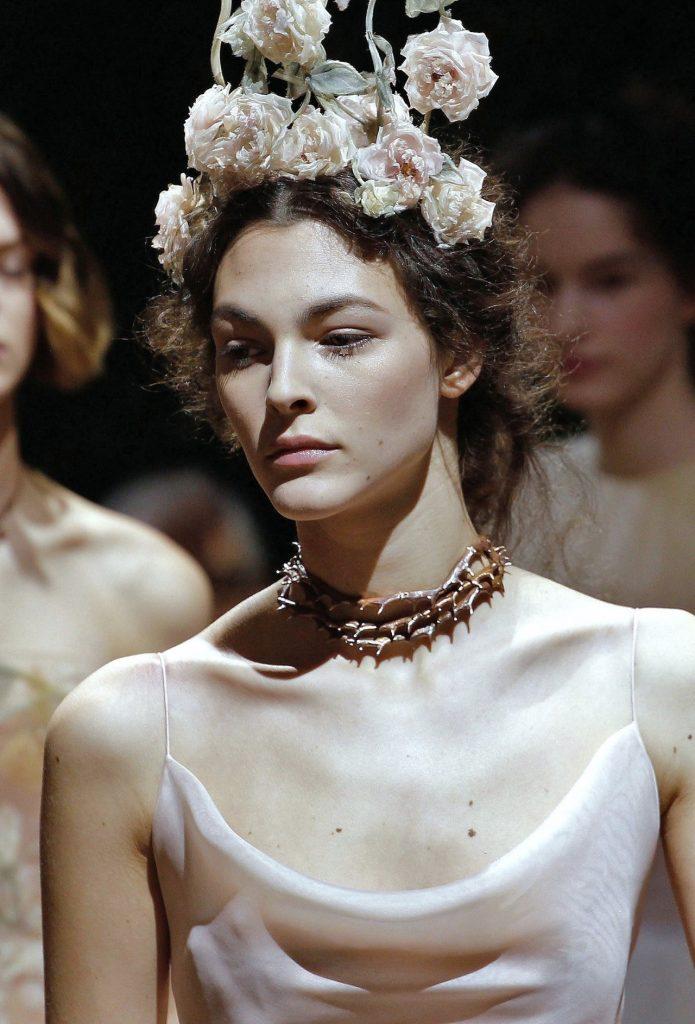 Vittoria Ceretti pour Dior Haute Couture printemps-été 2017